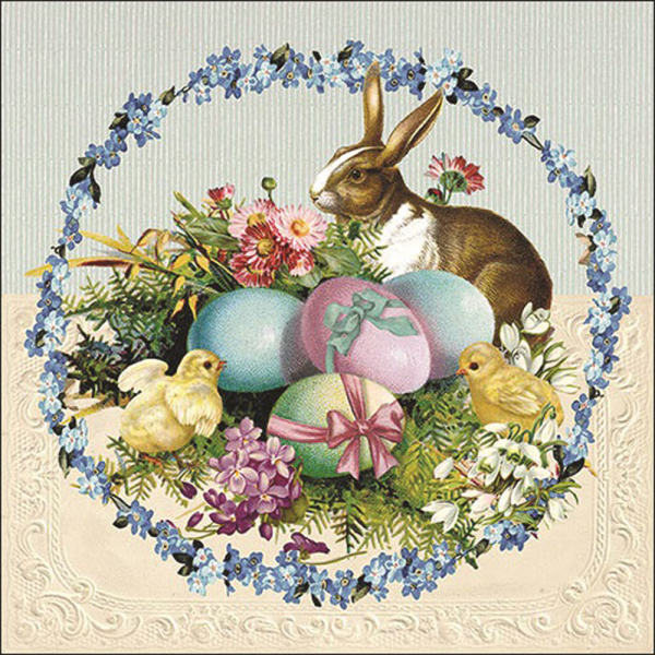 SALE!  Easter Wreath Lunch Napkin