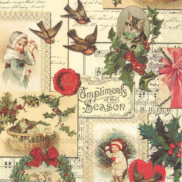 SALE!  Compliments of the Season Lunch Napkins