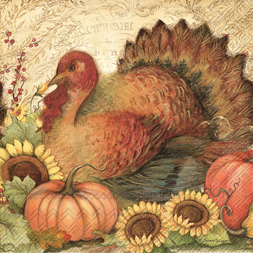 Fall Turkey Lunch Napkins