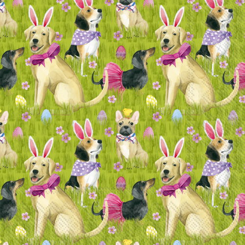 SALE!  Bunny Dogs Lunch Napkins