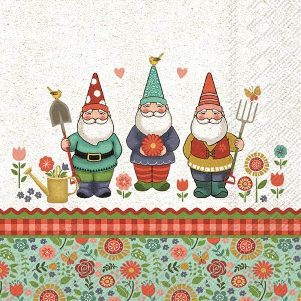 Sweet Little Gnome Helpers Lunch Napkin