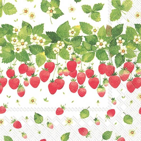 Strawberry Season Lunch Napkins