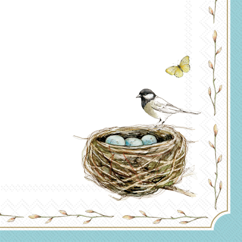 Easter Nest Paper Lunch Napkins