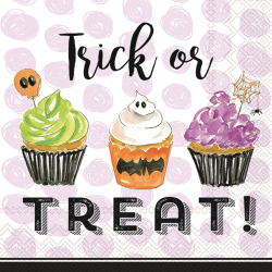 SALE! Trick or Treat Cupcakes Beverage Napkins