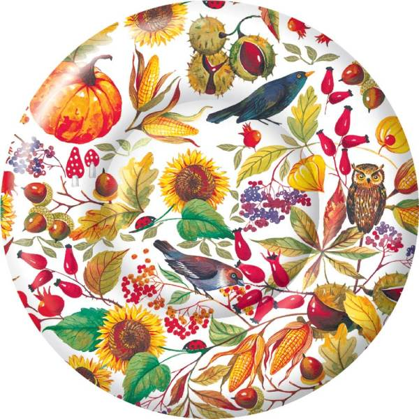 LTD QTY!  Autumn Harvest Dessert Plates