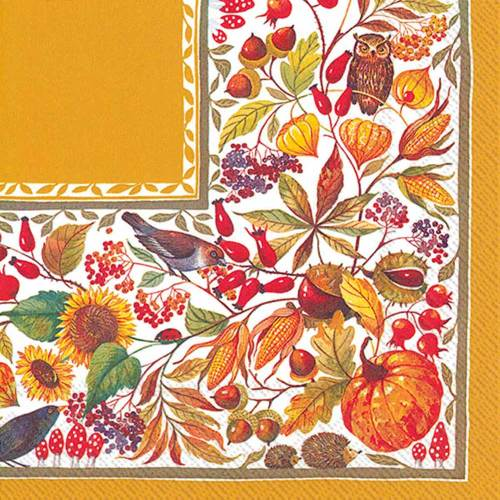 Autumn Harvest Lunch Napkins