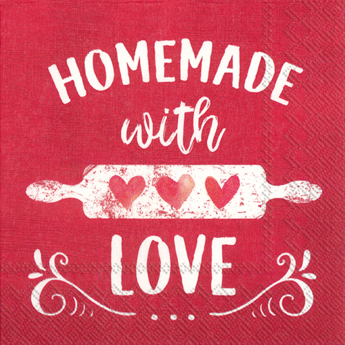Homemade With Love Lunch Napkins