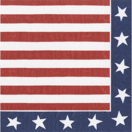 Red, White & Blue Lunch Napkins
