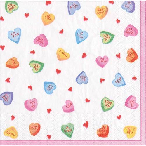 SALE!  Candy Hearts Paper Lunch Napkins