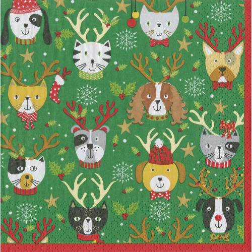Pets in Antlers Lunch Napkins