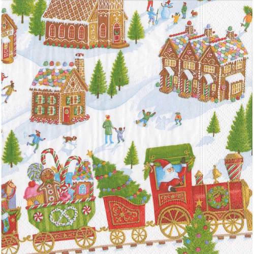 Gingerbread Village Lunch Napkins