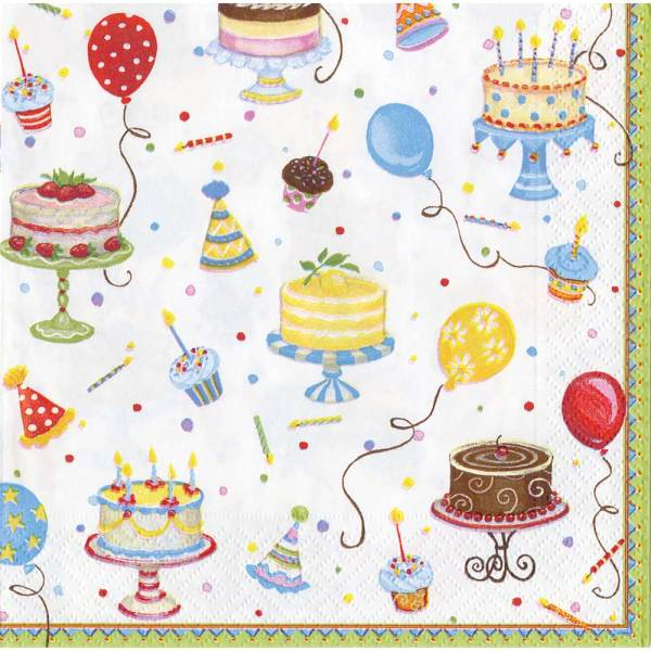 Birthday Cakes Lunch Napkin