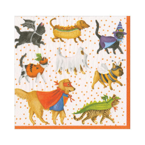 LTD QTY!  Pets in Costume Lunch Napkins