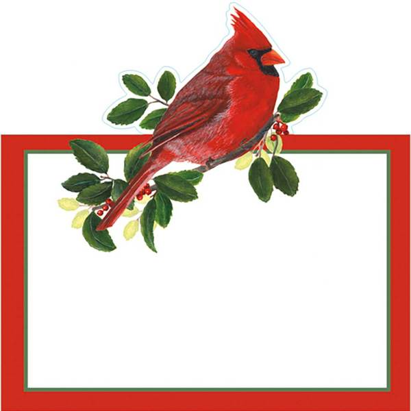 LTD QTY!  Winter Cardinal Place Cards Set