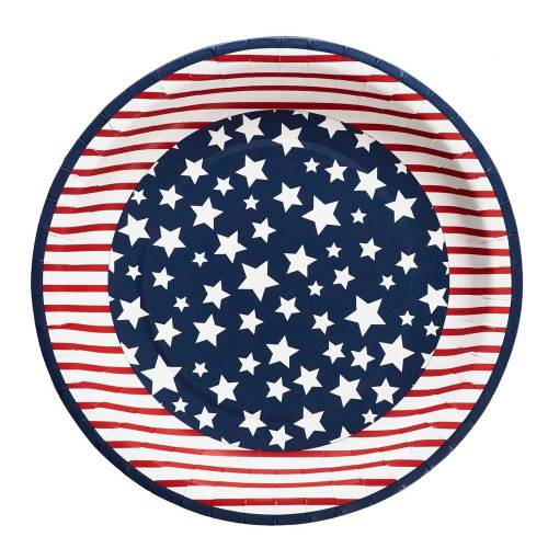 SALE!  Americana Paper Dinner Plates