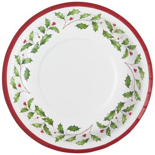 Lenox Holly Paper Dinner Plates