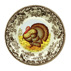 SALE!  Woodland Turkey Paper Lunch Plate
