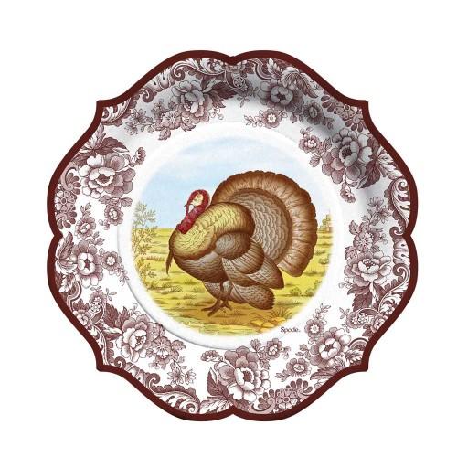 Spode Turkey Paper Luncheon Plates