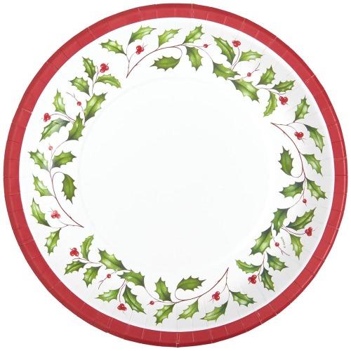 Lenox Holly Paper Dessert Plates