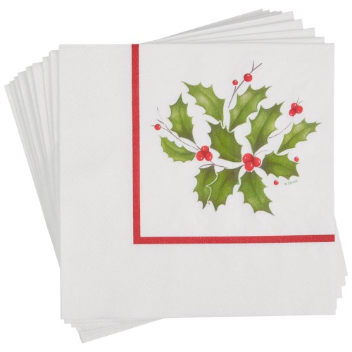 Lenox Holly Luncheon Napkins