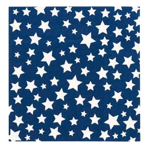 White Stars Paper Lunch Napkins