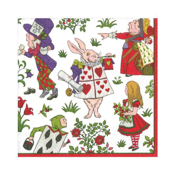 Alice in Winter Wonderland Lunch Napkin