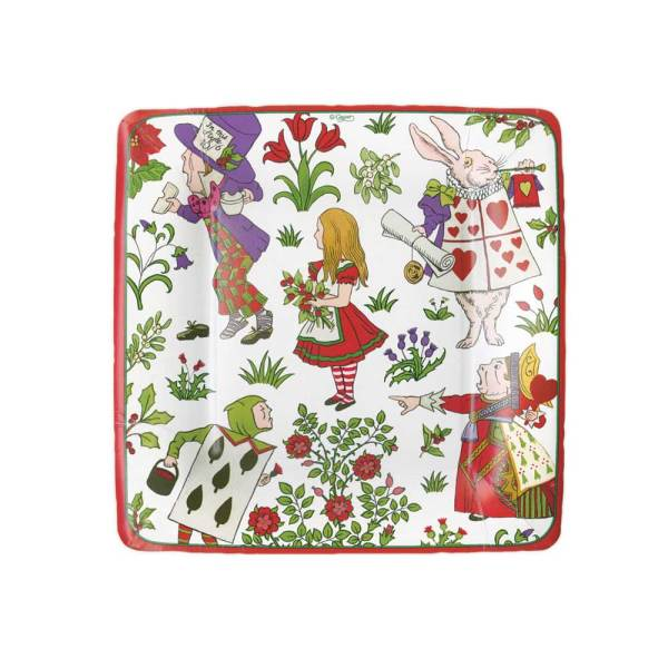 Alice in Winter Wonderland Dessert Plate