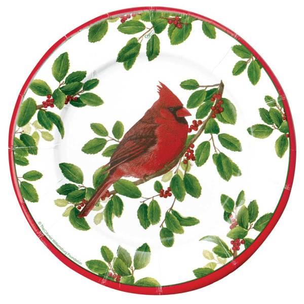 SALE!  Winter Cardinal Dessert Plate Set