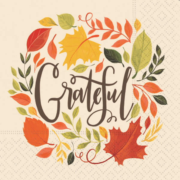 SALE!  Grateful Leaves Beverage Napkins