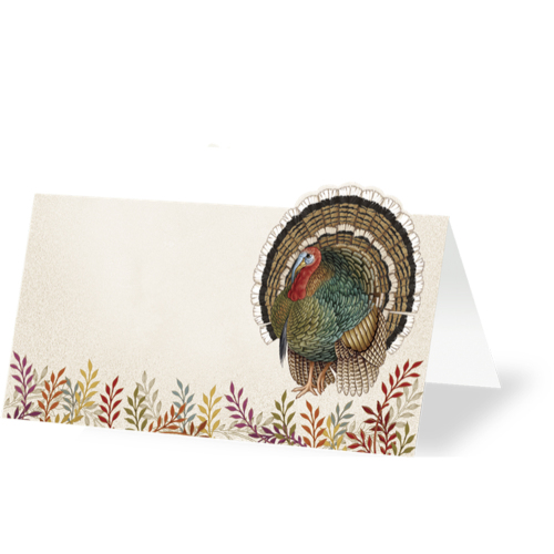 Foliage & Feather Place Cards