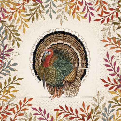 Foliage & Feather Lunch Napkin