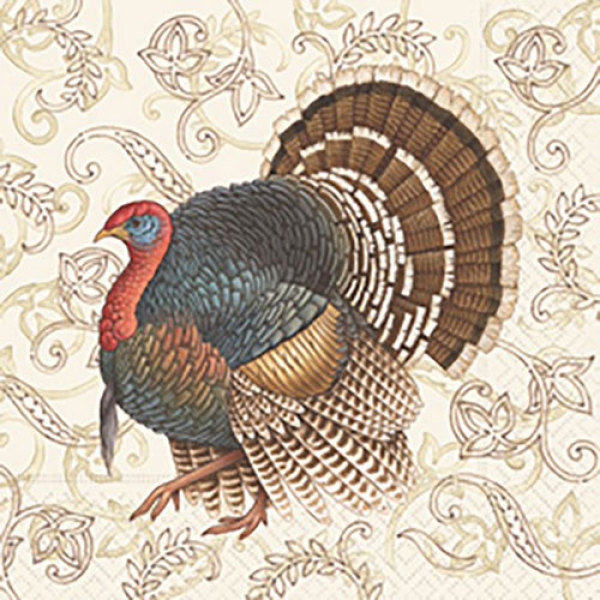 SALE!  Filigree Turkey Paper Lunch Napkins