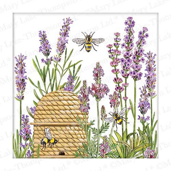 Botanical Lavender Beverage Paper Napkins