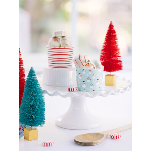 SOS!  Snowman & Stripes Baking Cups