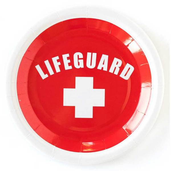 SALE!  RED Lifeguard Snack Plate