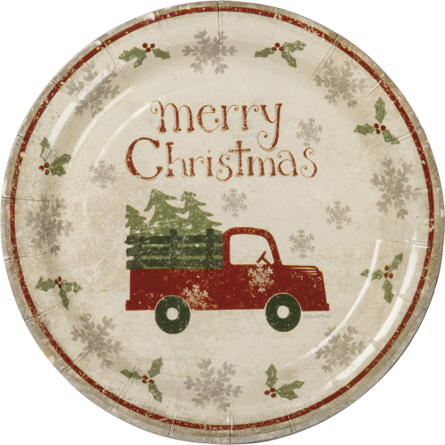 SOS!  Truck With Tree Small Paper Plates