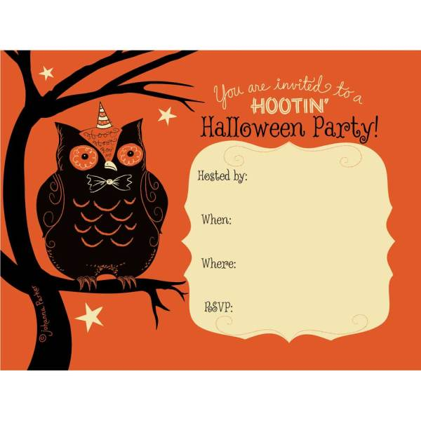 SALE!  Hootin' Halloween Invitations