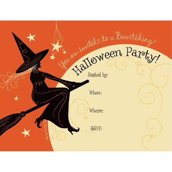 SALE!  Bewitching Halloween Invitations