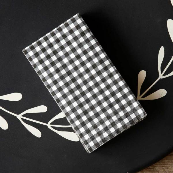 SALE! Gingham Check Dinner Napkins
