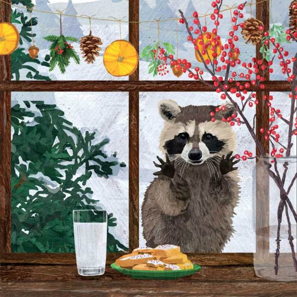 Curious Raccoon Beverage Napkin