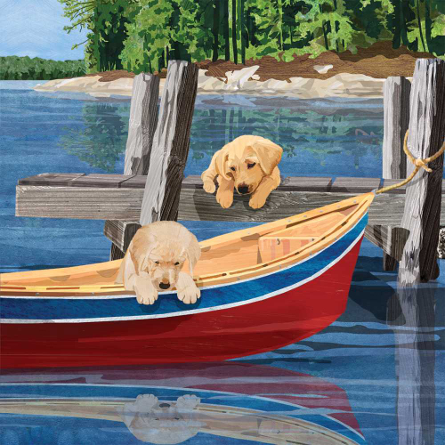 SALE!  Lakeside Puppies Lunch Napkins