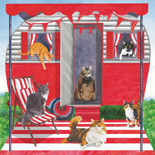 SALE!  Camper Cats Beverage Napkins