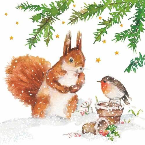 Squirrel & Robin Lunch Napkins