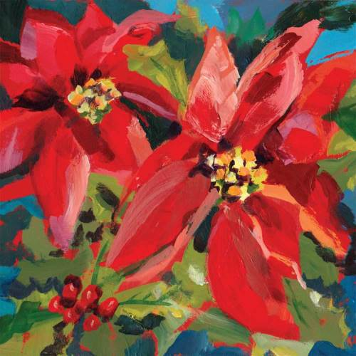 Poinsettia Muse Lunch Napkins