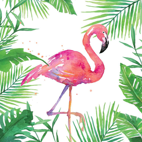 SALE!  Tropical Flamingo Lunch Napkins