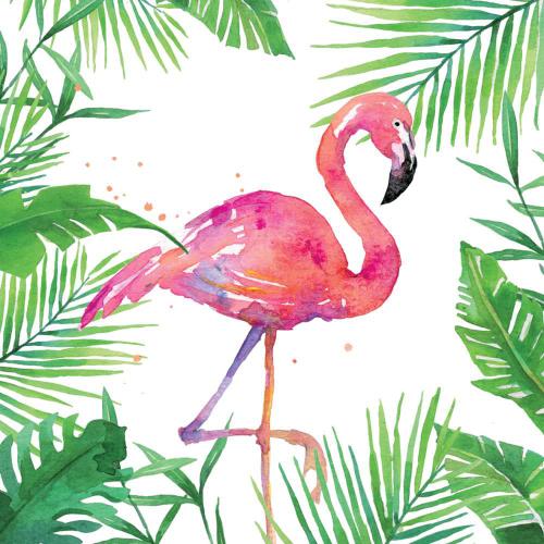 Tropical Flamingo Lunch Napkins
