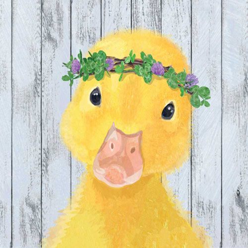 SALE!  Chloe Duckling Paper Lunch Napkin