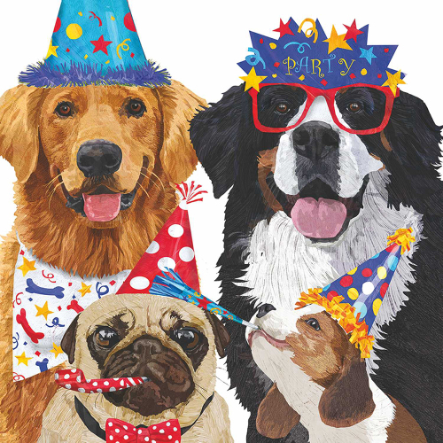 SALE!  Party Pooches Beverage Napkins