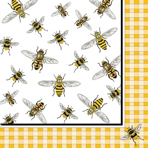 LTD QTY!  Honey Bees Beverage Napkins