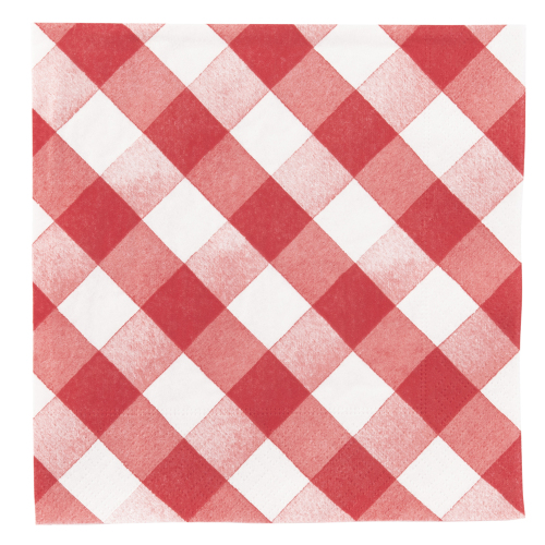 SALE!  Red Gingham Paper Lunch Napkins